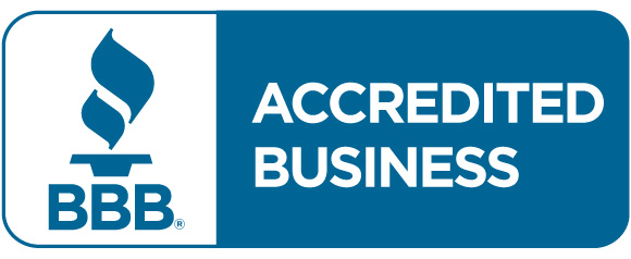 Better Business Bureau accredited business stamp of approval.