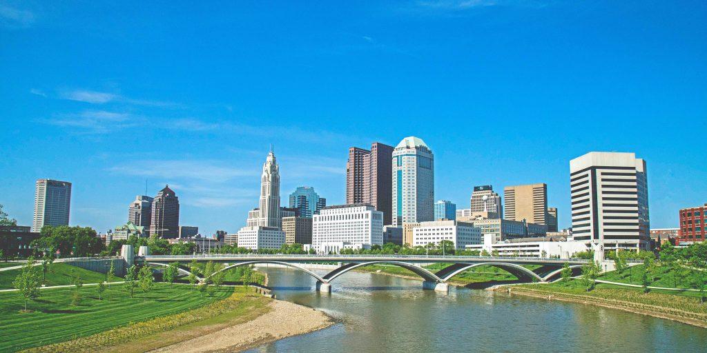 A skyline view of Columbus, Ohio.